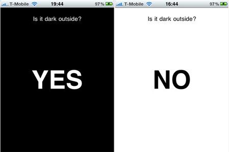 is it dark outside - banner